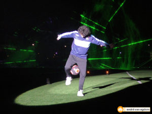 jongleur met voetbalskills